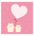 Cute Bears and big heart vector image