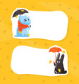 cute monsters and place for your text funny vector image