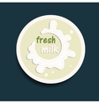 fresh milk icon vector image vector image