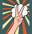 hand gesture comic book pop art isolated vector image vector image