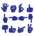 Hands in blue colors vector image