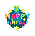 happy birthday logo template design element for vector image vector image