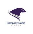 head eagle logo vector image vector image