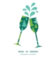 holiday christmas trees toasting wine glasses vector image vector image