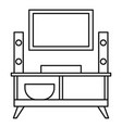home tv system icon outline style vector image