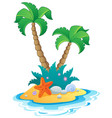 image with small island 1 vector image vector image