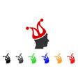 joker guy icon vector image
