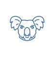 koala head line icon concept koala head flat vector image vector image