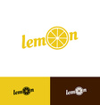 Lemon word logo vector image