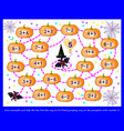 math education for children logic puzzle game vector image