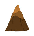 mountain isolated high rock rock hill vector image vector image