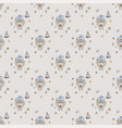 new year seamless pattern pattern with symbol vector image vector image