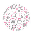 obsessive love round vector image vector image