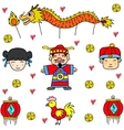 Of Chinese New Year Doodles vector image vector image