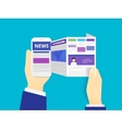online reading news vector image vector image