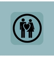 Pale blue love couple sign vector image