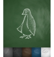 penguin icon Hand drawn vector image