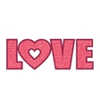 pink love word vector image