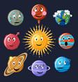 planets emoticon set vector image vector image
