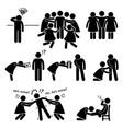 popular casanova womanizer stick figure pictograph vector image vector image