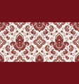 rectangular seamless boho print design for vector image