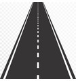 road with markings straight asphalt vector image