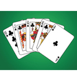 Royal Flush of Clubs vector image vector image