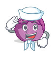 sailor red cabbage character cartoon vector image vector image