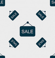 Sale icon sign Seamless pattern with geometric vector image