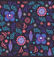 seamless pattern beutiful floral ornament vector image vector image