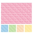 Seamless pattern with I love you text in five vector image