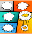 set of comic strip with chat bubbles vector image