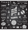set party icons signs and symbols vector image vector image