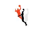 Slam dunk vector image
