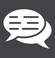 speech bubbles glyph icon seo and development vector image