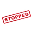 Stopped Rubber Stamp vector image vector image