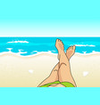 summer vacation at the beach vector image vector image