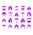 tent simple gradient icons set vector image