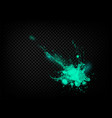 the explosion and scatter paint on a transparent vector image vector image