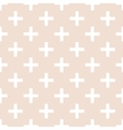 Tile cross plus pastel pattern vector image