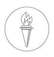 torch icon design vector image