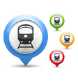 Train Icon vector image vector image
