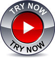 Try now round button vector image vector image