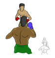 two professional boxers fighting in the ring vector image