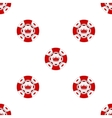 Universal casino chips seamless patterns vector image vector image