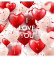 valentines day background with white red heart vector image vector image
