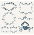 Vintage royalty frames with crown diadems vector image vector image