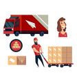 warehouse logistics collection vector image vector image