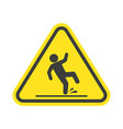 wet floor warning sign vector image vector image