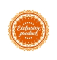 Exclusive product vector image